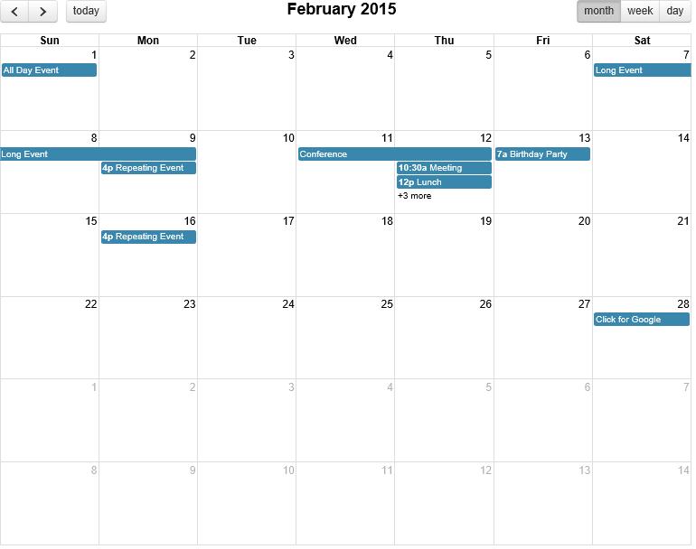 Full Calendar not working in Internet Explorer 8 (IE 8) | Down